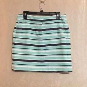 TOMMY HILFIGER Striped mint green mini skirt